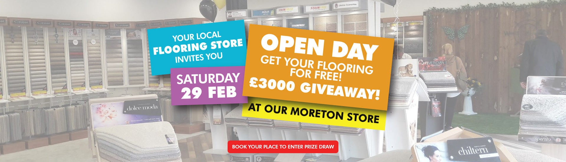 Moreton Store Re-launch Banner